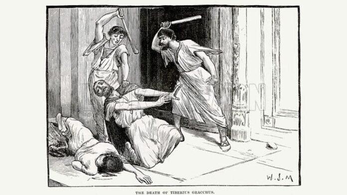 The death of Tiberius Gracchus