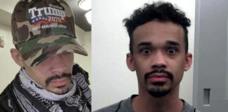 John Sullivan arrest photo and in Trump hat