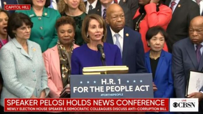 Nancy Pelosi holds a press conference on H.R. 1