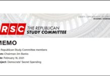 The Republican Study Committee Memo: Democrats' Secret Spending