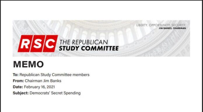 The Republican Study Committee Memo: Democrats' Secret Spending