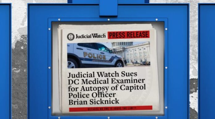 Judicial Watch sues For Capitol Police Officer Brian Sicknick's Autopsy