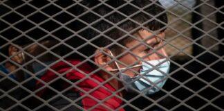 Unaccompanied minors in Border Patrol vehicle