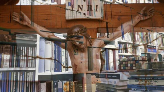 Church book stores selling products made by slaves.