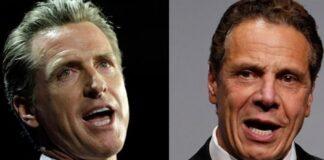 Governors Newsom and Cuomo