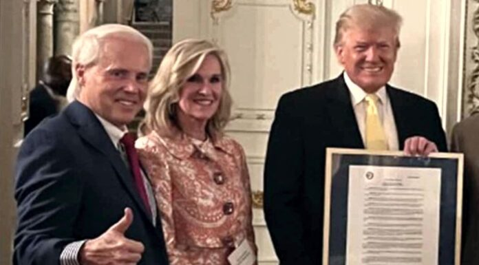 Perry Hooper Jr with President Donald Trump