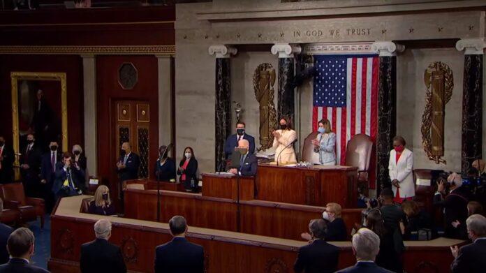 President Joe Biden delivers his first speech to Congress.