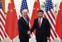 VP President Joe Biden and Xi Jinping