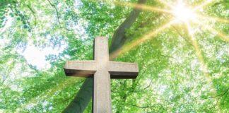 Cross in the sonlight