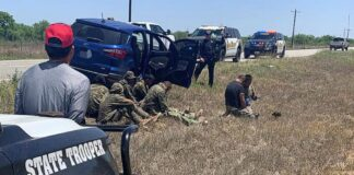 Seven illegal aliens and a driver are apprehended in La Salle County, Texas