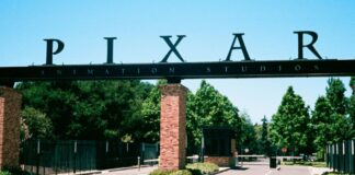 Entrance to headquarters of animation company Pixar