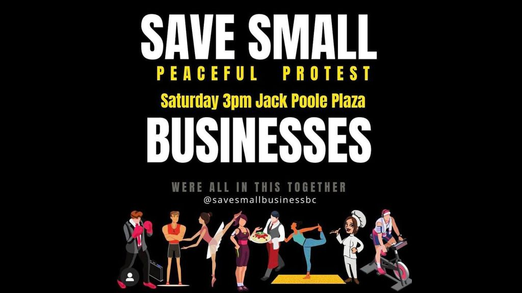 Save Small Businesses Peaceful Protest