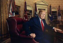"""President Donald J. Trump for Time magazine in 2019"" inkjet print 2019, printed 2020."