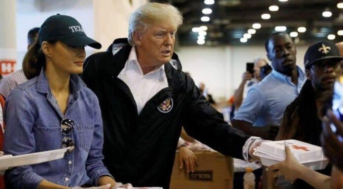 Donald Trump Serving Others