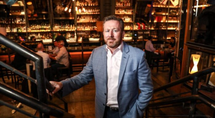 Mark Fox, owner of The Ragtrader & Bo Peep Cocktail and Highball Store in New York City