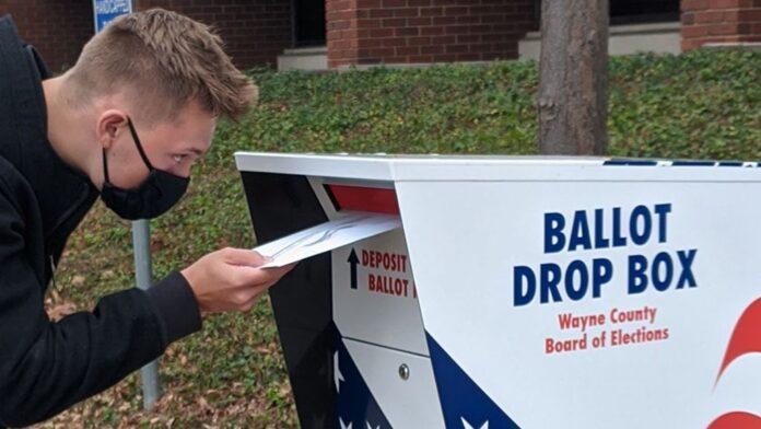 """First time voter"" by Karri VanKirk CC 2.0."