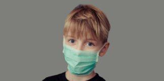 Boy Wearing COVID Face Mask