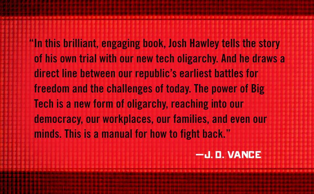 J.D. Vance Quote for The Tyranny of Big Tech