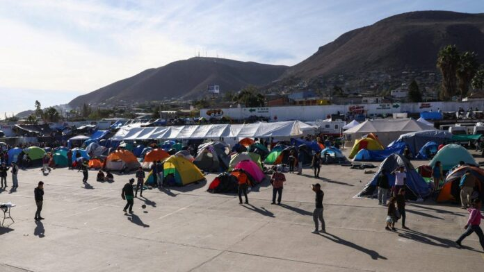 Migrant camp 10 miles from U.S. border