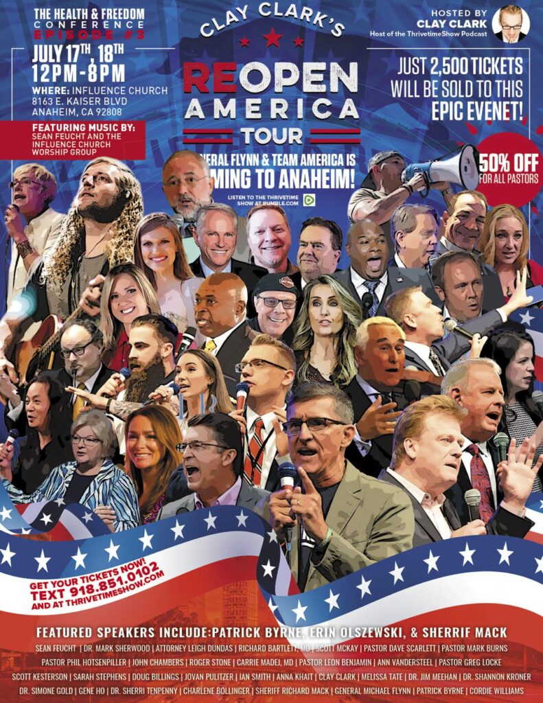 Reopen America Tour 2021 Poster