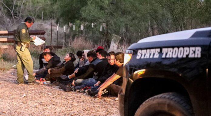 Border Patrol apprehends illegal immigrants at Penitas, Texas