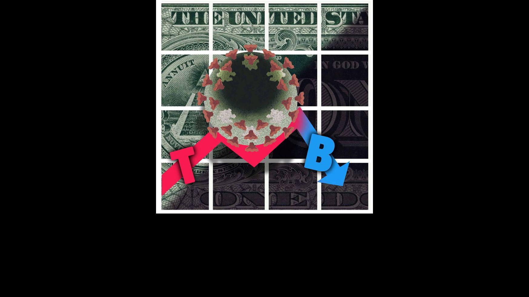 Illustration on the Biden economy by Alexander Hunter/ The Washington Times