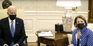 President Biden and Shelley Moore Capito at White House
