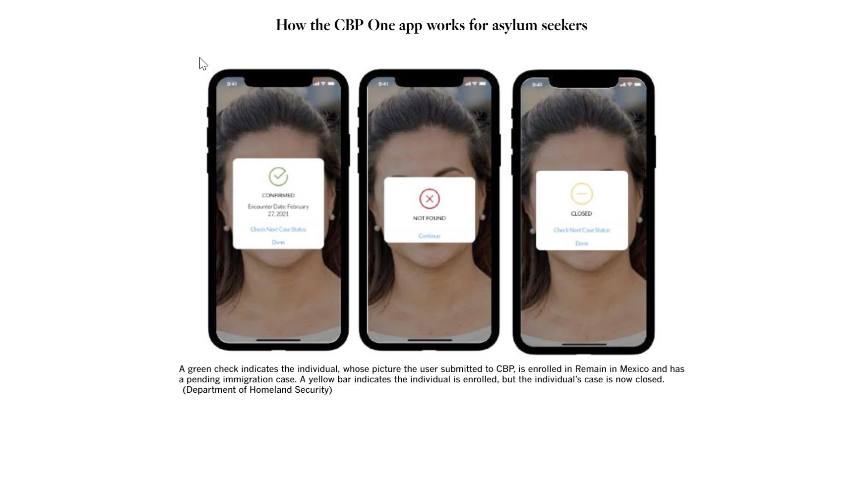 How the CBP One App Works For Asylum Seekers