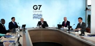 Group of Seven (G-7) leaders on June 13