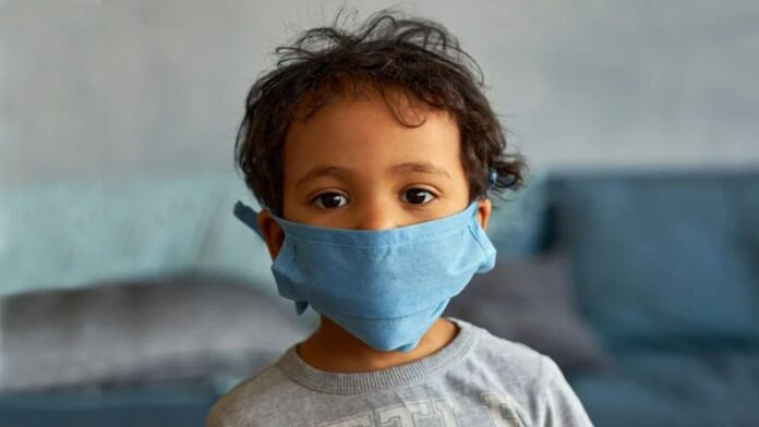 Child in Face Mask