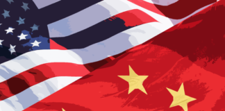 American & Chinese Flags
