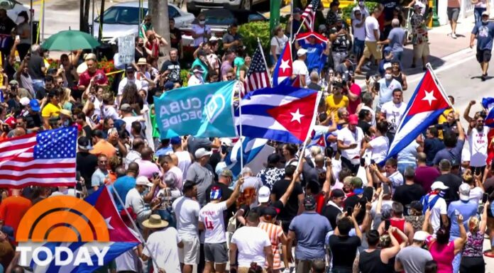 Cubans Protesting For Freedom