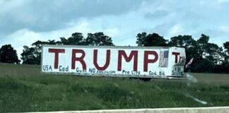 John & Sarah Milles Photo of Trump Sign