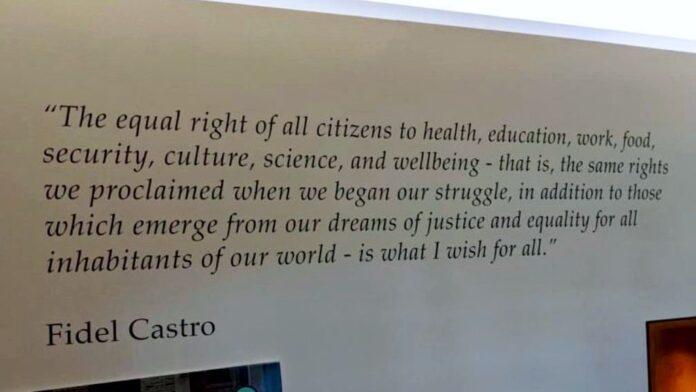 Fidel Castro quote inside Penn State's Paul Robeson Cultural Center