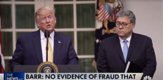 Trump and Barr on Election Fraud