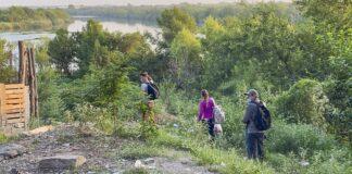 Cubans Walk Toward the Rio Grand