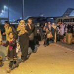 Evacuees from Afghanistan Al-Udeid airbase