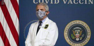 Masked Anthony Fauci