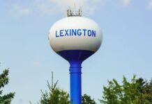 Municipal water tower village of Lexington, Mich