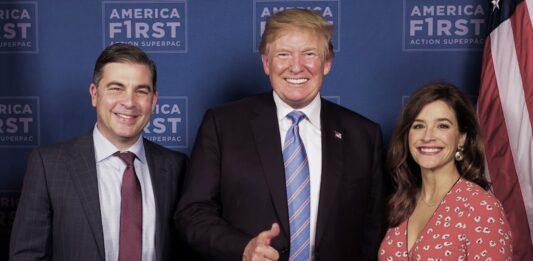 Mr. Mike Carey, President Donald Trump and Mrs. Meghan Carey