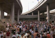 Migrants under the Anzalduas International Bridge