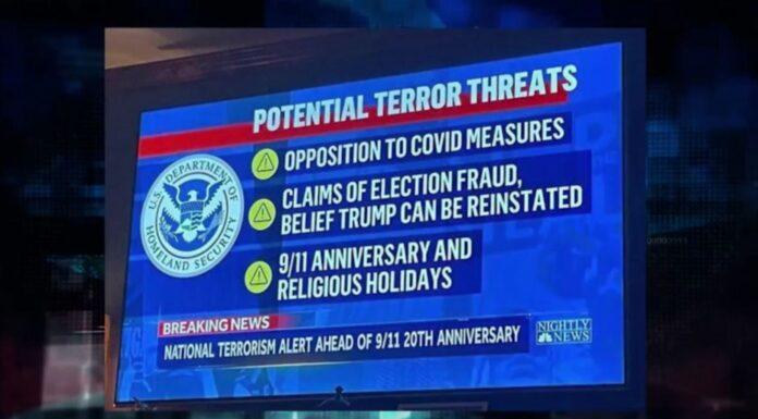 Department of Homeland Security Potential Terror Threats