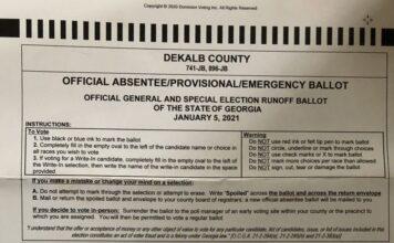 Official Absentee Ballot Dekalb County Arizona