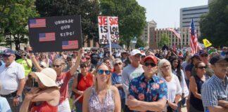Vaccine Mandate Protest Lansing Michigan