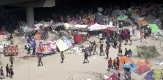 Illegal immigrant Encampment on Southern Border