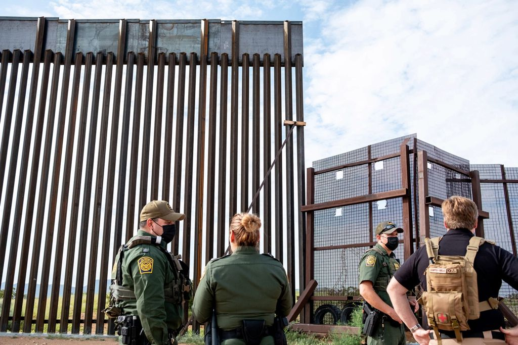 The 20-foot gap in the frontier wall at Border Monument Three was allowing thousands of smugglers and migrants to cross into the US with relative ease. Joel Angel Juarez