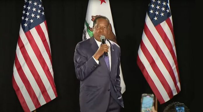 Larry Elder Giving Concession Speech